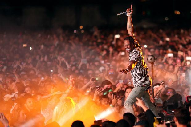 Travis Scott performance concert show live crowd riot coachella