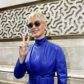 katy perry blue leather coat sunglasses blonde short hair peace sign