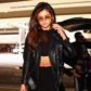 selena gomez abs black outfit crop top midriff