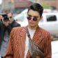 kendall jenner striped suit fannypack sunglasses