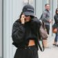 Kourtney Kardashian black sweatpants doctor