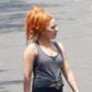 Lady Gaga orange hair a star is born remake set