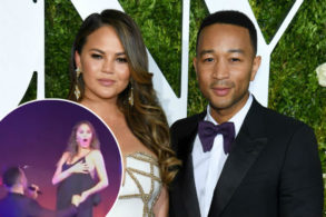 Chrissy Teigen Suffers MAJOR Nip Slip While Dancing with John Legend