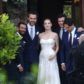 jessica chastain husband Gian Luca Passi de Preposulo wedding dress gown photos nuptials ceremony italy