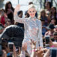 katy perry concert live performance witness lifestream outdoor silver sequin jumpsuit