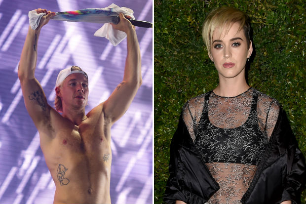 Katy Perry Diplo shirtless