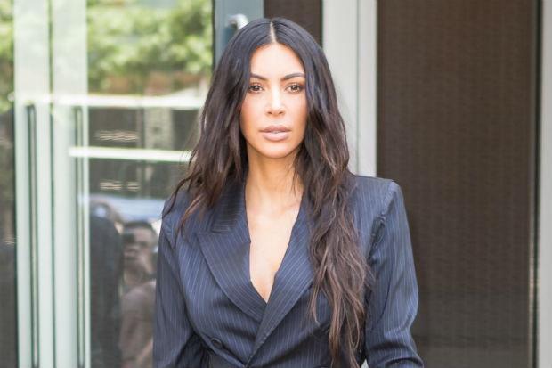 Kim Kardashian business suit
