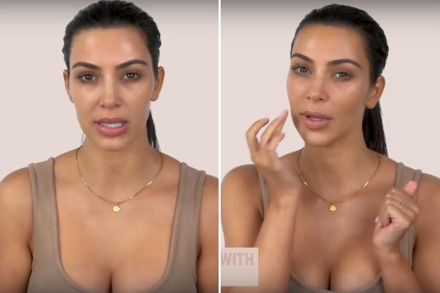 kim kardashian contour makeup before and after