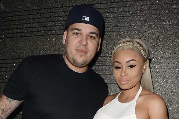 Rob Kardashian and Blac Chyna Reunite for Father's Day