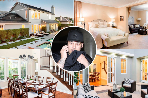 rob kardashian home mansion house