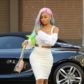 blac chyna rainbow hair wig