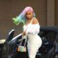 blac chyna rainbow hair wig