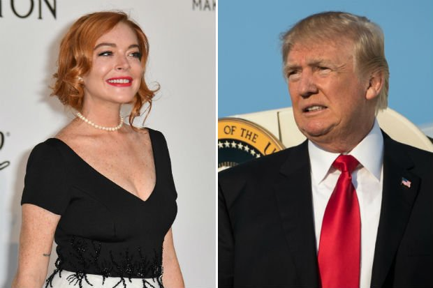 Lindsay Lohan Defends Trump: