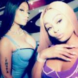 Blac Chyna and Nicki Minaj Slip into Skimpy Latex Outfits for 'Rake It Up' Music Video Shoot