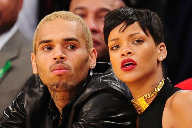 chris brown rihanna basketball game