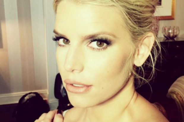 Jessica Simpson Flashes Her Underwear in Honor of Her Husband's Birthday