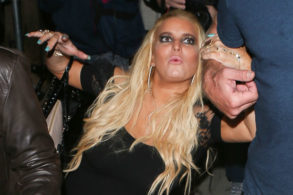 Tipsy Jessica Simpson Stumbles Out of Husband's Birthday Party