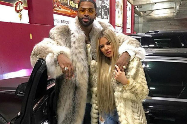 khloe kardashian tristan thompson fur coat