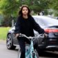 Selena Gomez blue cruiser bike ride