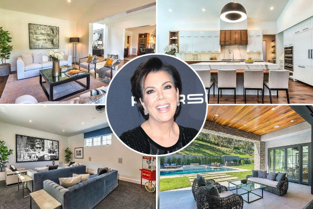 kris jenner hous home mansion