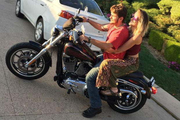 Prince Jackson paris motorocycle