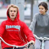 Selena Gomez and Justin Bieber Cuddle Up During Cozy Bike Ride