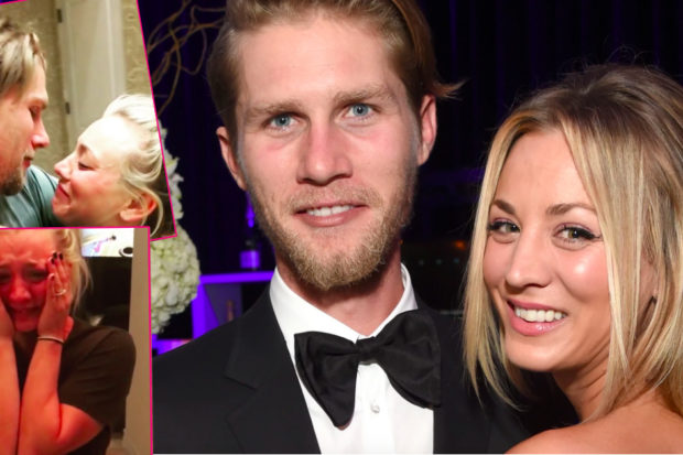 She's Engaged! Kaley Cuoco Breaks Down in Tears During Karl Cook's Proposal