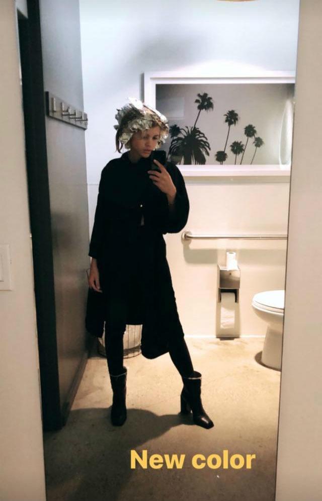 sofia richie hair salon foil brunette