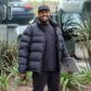 Calabasas, CA  - Kanye West can't wipe the smile off his face as he arrives at his office to get back to work.  The rapper looked to be still on cloud nine after the birth of his third child via surrogate with wife Kim Kardashian.  Pictured: Kanye West  BACKGRID USA 17 JANUARY 2018   USA: +1 310 798 9111 / usasales@backgrid.com  UK: +44 208 344 2007 / uksales@backgrid.com  *UK Clients - Pictures Containing Children Please Pixelate Face Prior To Publication*