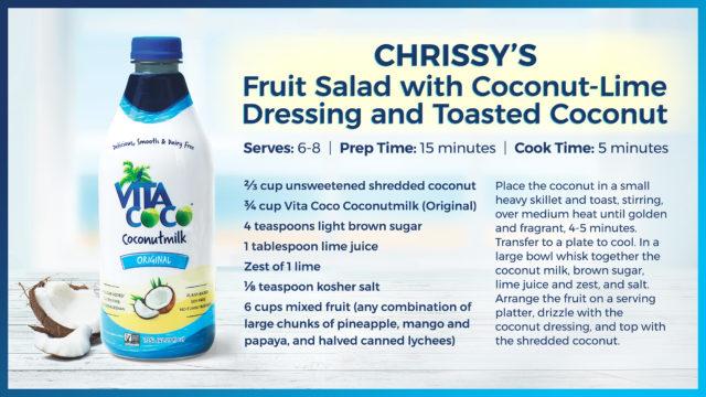 chrissy teigen cravings 2 coconut lime fruit sala dressing recipe
