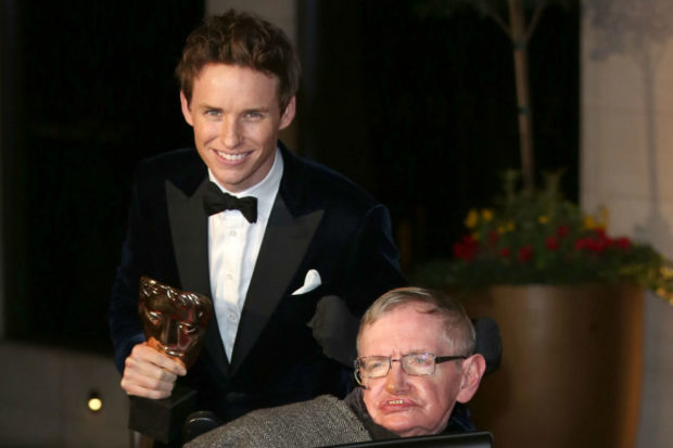 Eddie Redmayne and Professor Stephen Hawking