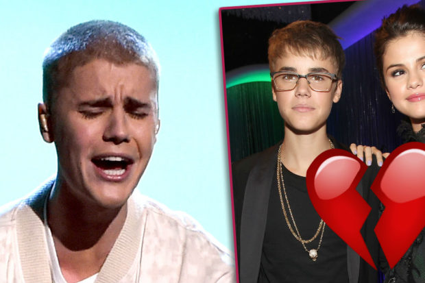 justin bieber selena gomez crying split breakup