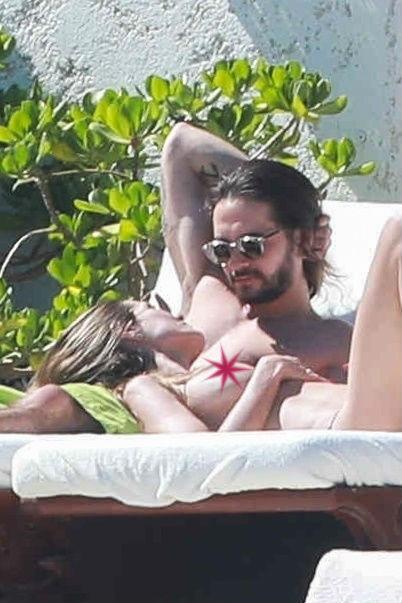 heidi klum topless tom kaulitz