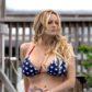 Stormy Daniels american flag bikini