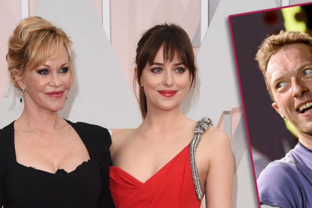 melanie griffith dakota johnson chris martin