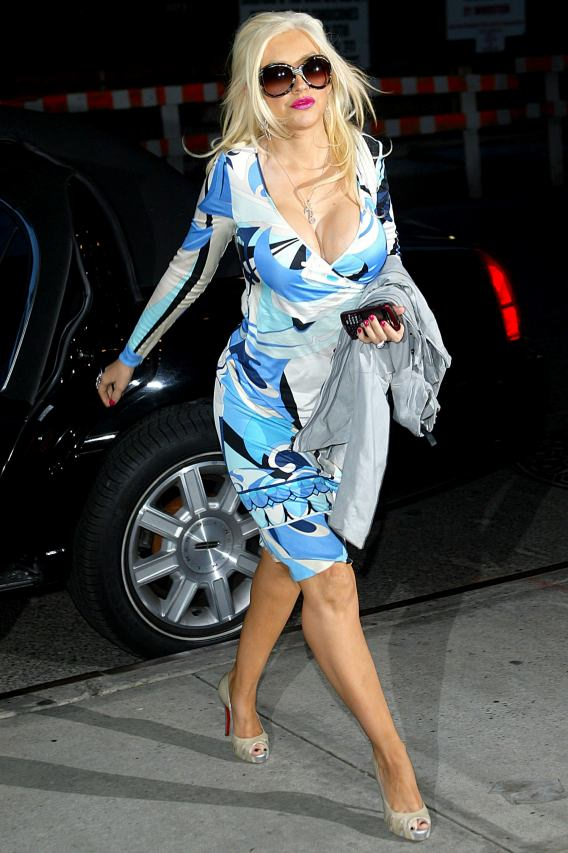 Christina Aguilera's Cups Runneth Over