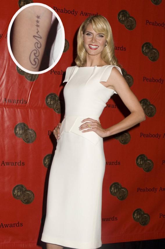 Tattoo Du: Heidi Klum's Arm Belongs to Seal