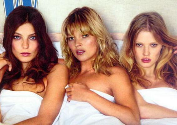 Kate Moss Plus Two: This Bed Is Just Right