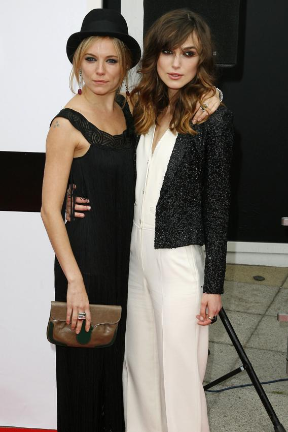 Sienna Miller and Keira Knightley Get Edgy