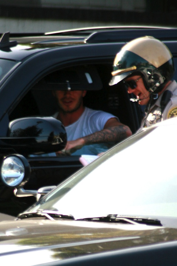David Beckham Meets L.A.'s Finest