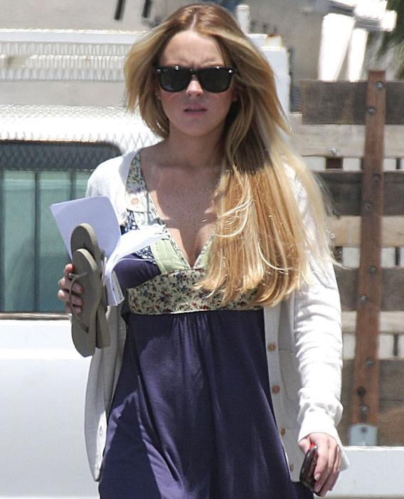 Lindsay's 'Labor Pains': The Fake Bump Watch Is On!