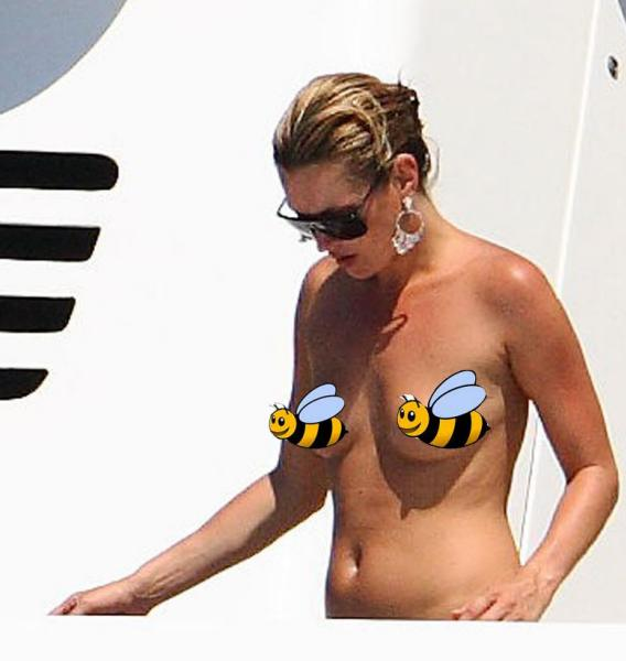 Kate Moss' Breasts Have Bad Timing