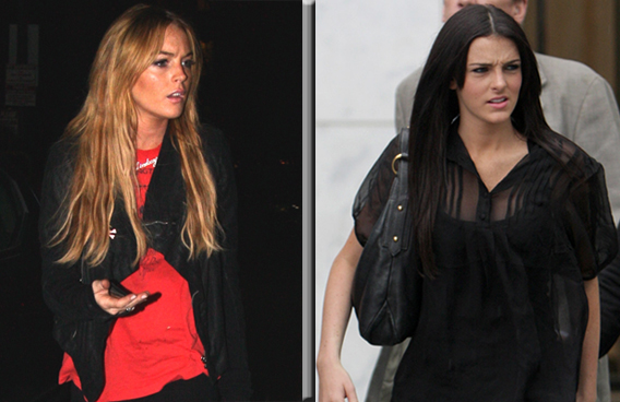 Lindsay and Ali Lohan: A Scowling Resemblance