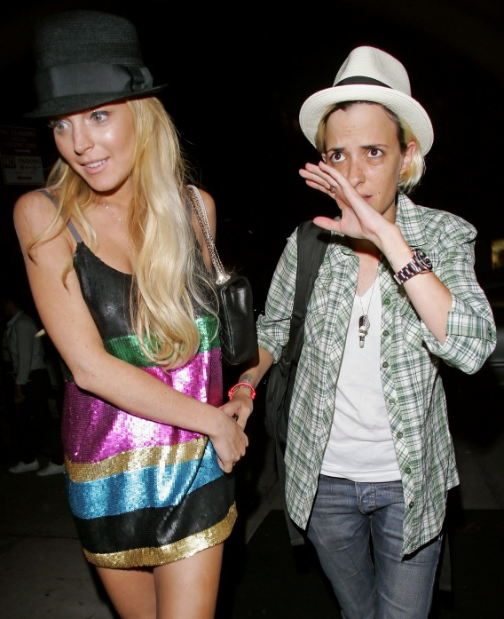 Lindsay Lohan and Samantha Ronson Hand It to Each Other