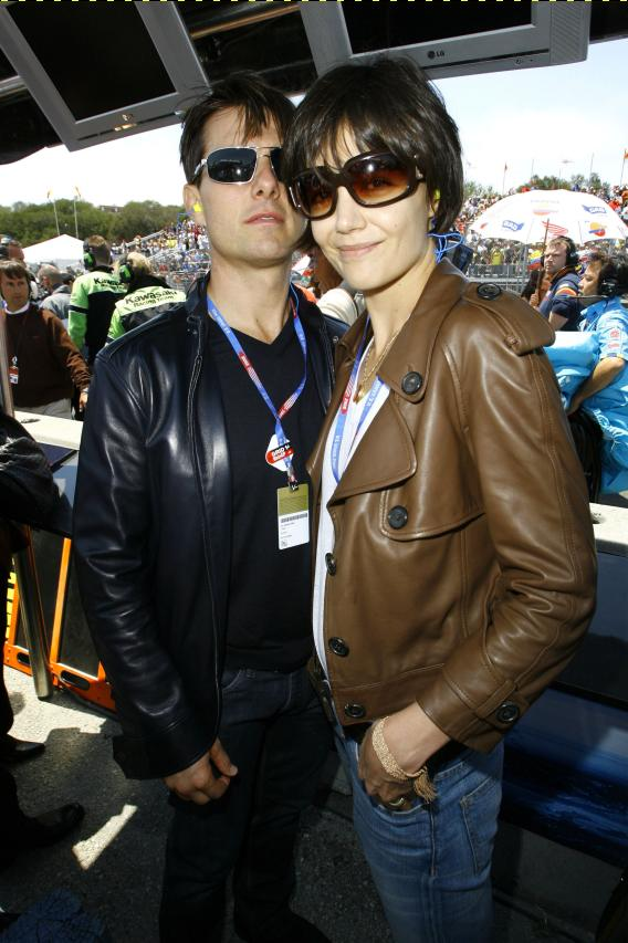 Tom Cruise and Katie Holmes Spend a Day at the Races