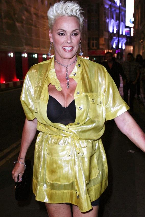A Freshened-Up Brigitte Nielsen Terrorizes London