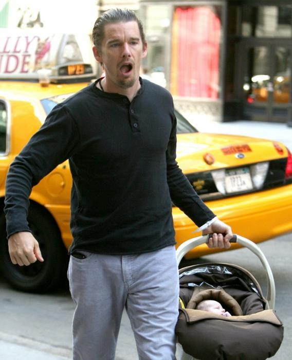 Ethan Hawke Gives His Baby for Free