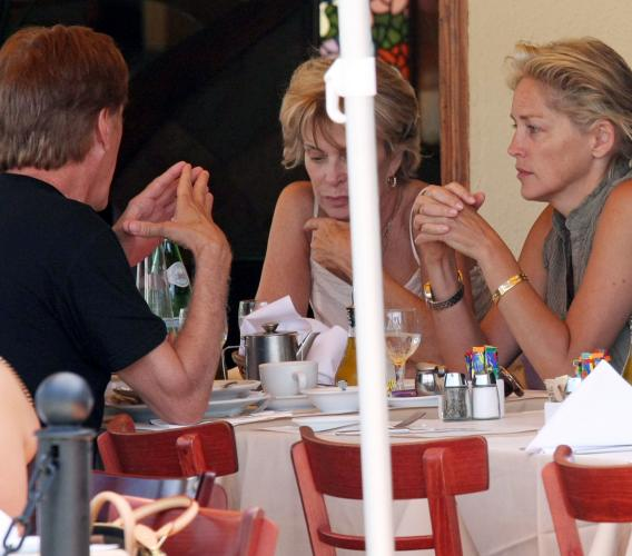 Sharon Stone and James Woods: Lunch Buddies