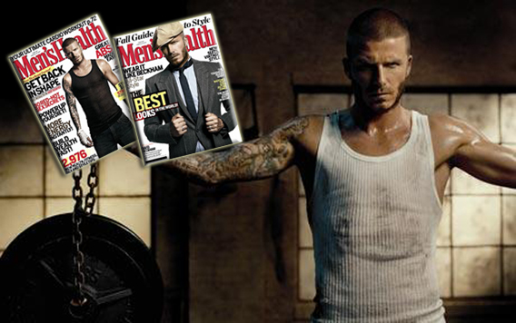David Beckham, Sweaty and Ready for Men's Health
