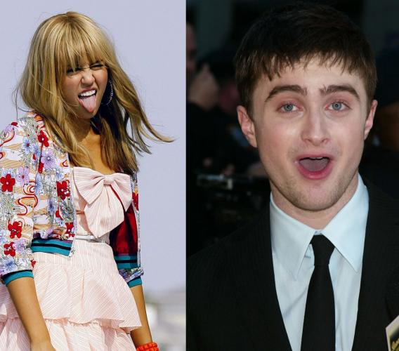 Miley Cyrus and Daniel Radcliffe: Young and Very Rich